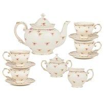 Kraus+11+Piece+Porcelain+Petite+Fleur+Tea+Set