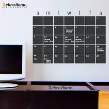 DIY Chalkboard Calendar Decal Whiteboard Vinyl Wall Stickers ...