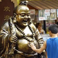 Good luck to rub the Buddha belly | Buddha, Maitreya buddha, Happy buddha